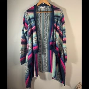 Say What Multicolor Long Cardigan size L